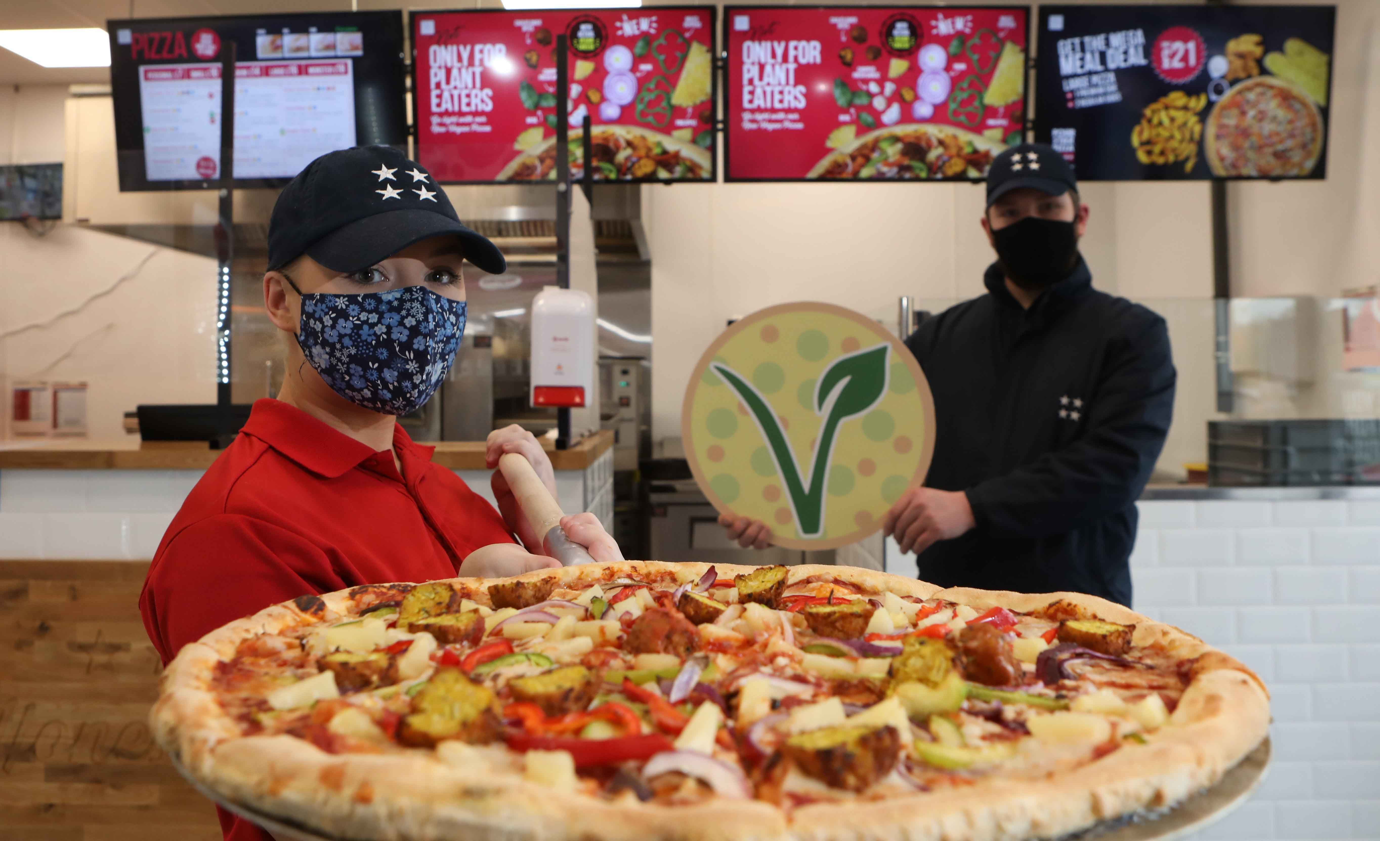 Four Star Pizza launches VEGAN PIZZA